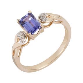 Ring 585 Gelbgold AAATansanit, Diamanten