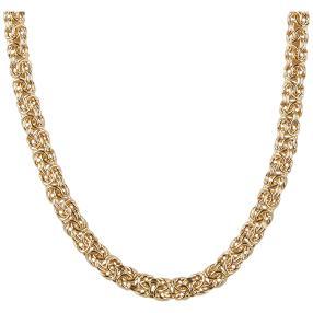 Königskette Bronze, vergoldet
