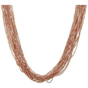 Collier Bronze rosévergoldet ca. 50 cm + 5 cm