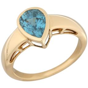 STAR Ring 750 Gelbgold AAAZirkon blau