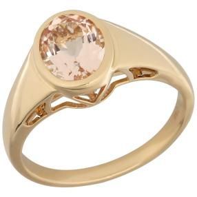 STAR Ring 750 Gelbgold AAAMorganit