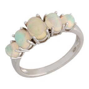 Ring 925 Silber, Äthiopischer Opal