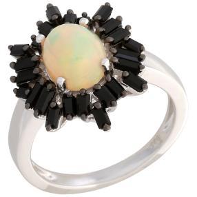 Ring 925 St. Silber, Äthiopischer Opal & Spinell