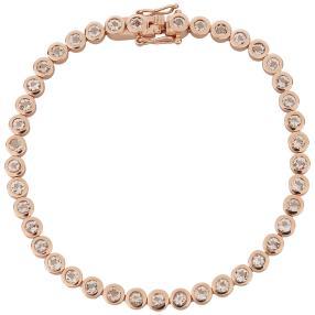 Armband 585 Roségold Morganit