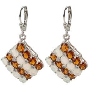 Ohrhänger 925 Sterling Silber Äthiopischer Opal