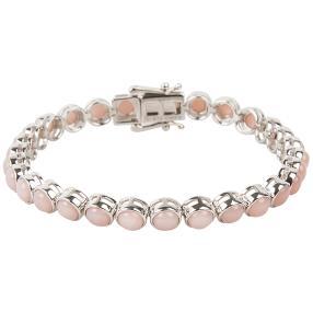 Armband 925 Silber, Pink Opal