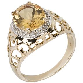 Ring 375 Gelbgold Goldberyll