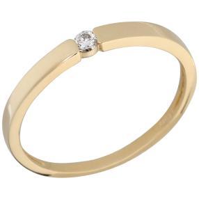 Ring 585 Gelbgold, Brillant