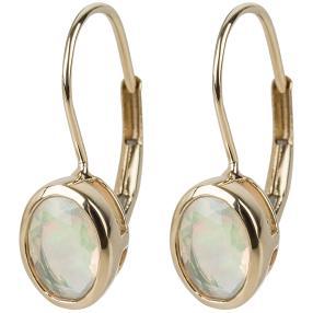 Ohrhänger 585 Gelbgold, Äthiopischer Opal