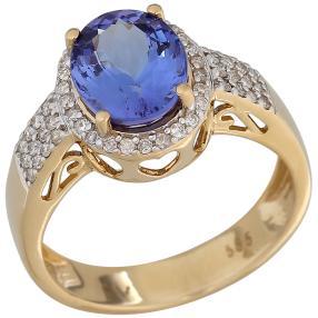Ring 585GG AAAA Tansanit