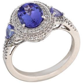Ring 585WG AAA Tansanit