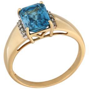 Ring 585GG Zirkon blau