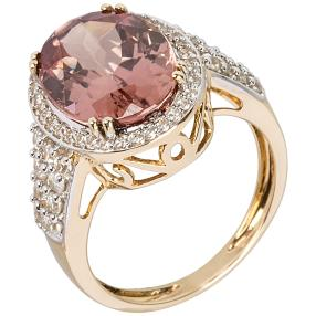 Ring 585GG Zirkon pink