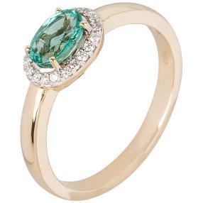 Ring 750 GG, Sambia Smaragd