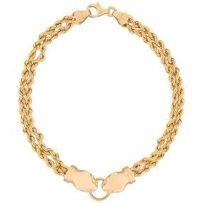 Panther-Armband 750 Gelbgold