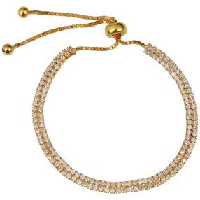 Armband 925 Sterling Silber vergoldet Zirkonia