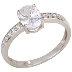 Ring 925 Sterling Silber, Zirkonia