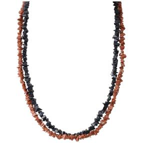 SET Collier Blaufluss, Goldfluss 2 teilig