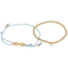 SET Armband Edelstahl IP-vergoldet