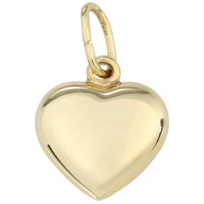 Herzanhänger 375 Gelbgold