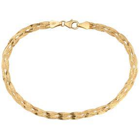 Herringbone-Armband, 375 Gelbgold