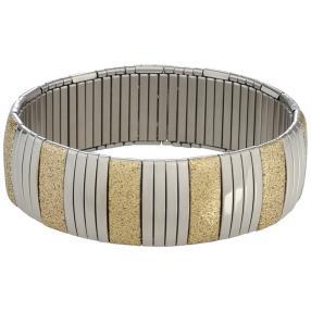 Armband Edelstahl, bicolor