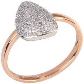 Ring 585 Rosegold/Weißgold Diamanten