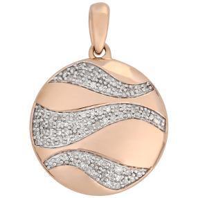 Anhänger 585 Roségold Diamanten