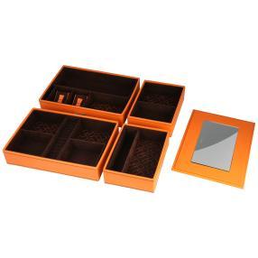 Schmuckkasten Modulo orange
