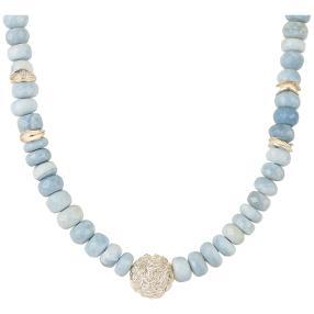 Collier Opal blau