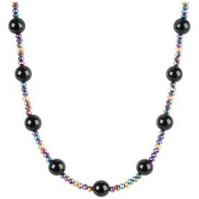 Collier Hämatit, Obsidian
