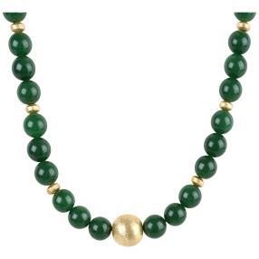 Collier Jade, grün