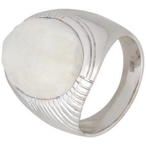 Ring 925 Sterling Silber Regenbogen Mondstein