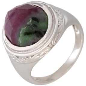 Ring 925 Sterling Silber Rubin Zoisit