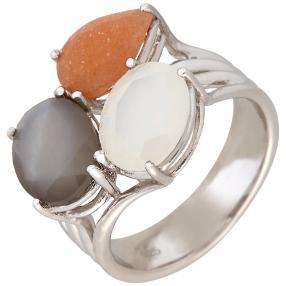 Ring 925 Sterling Silber Mondstein
