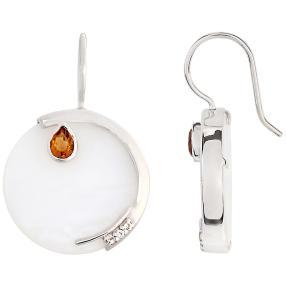Ohrhänger 925 Sterling Silber Opal