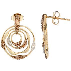 Ohrstecker 585 Gelbgold Diamanten