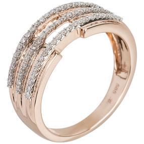 Ring 585 Roségold Diamanten