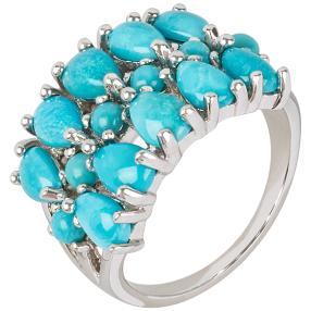 Ring 925 Sterling Silber Sleeping Beauty Türkis
