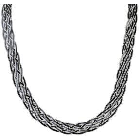 Heringbone-Collier 925 Sterling Silber