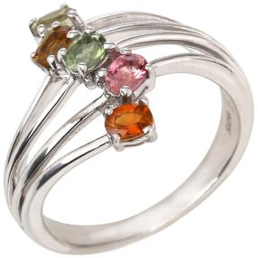 Ring 925 Sterling Silber Turmalin multi