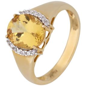 Ring 375 Gelbgold Canary Apatit
