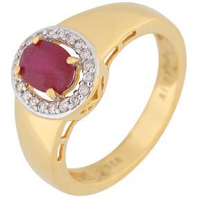 Ring 925 St. Silber verg. Sambia Rubin behandelt