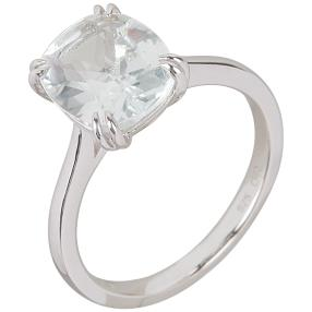Ring 925 Sterling Silber Weißtopas