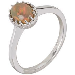 Ring 925 St. Silber Chocolate Äthiopischer Opal