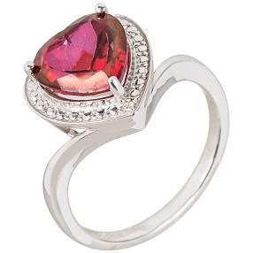 Ring 925 St. Silber Mystic Red Topas behandelt