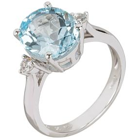 Ring 925 Sterling Silber Sky Blue Topas