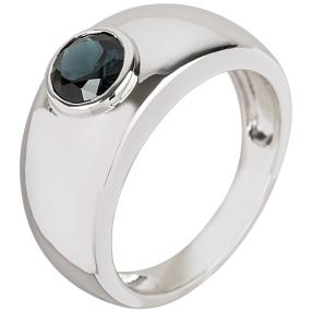 Ring 925 Sterling Silber Spinell blau