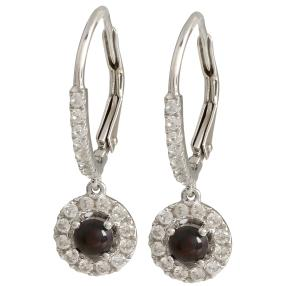 Ohrhänger 925 Sterling Silber Opal schwarz