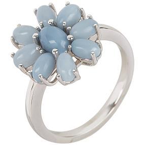 Ring 925 Sterling Silber Opal taubenblau